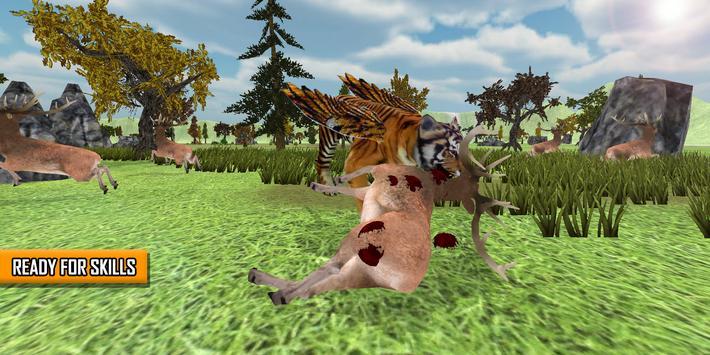 Angry Flying Tiger Wild Simulator 3D apk screenshot