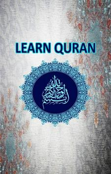 Learn Quran poster