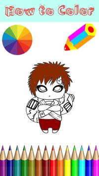 Coloring Manga Game For Kids poster