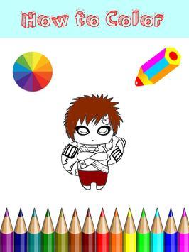 Coloring Manga Game For Kids screenshot 2