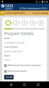 SRM BTech. 2016 Application screenshot 4