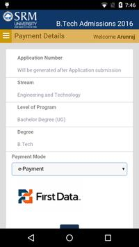 SRM BTech. 2016 Application screenshot 1