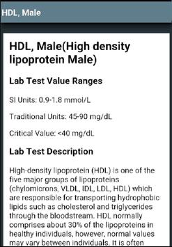 Lab Values Reference (Free) apk screenshot