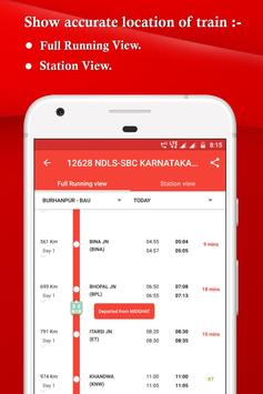 IRCTC, Spot train, PNR, seats availability : TRES screenshot 1