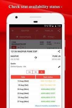 IRCTC, Spot train, PNR, seats availability : TRES screenshot 3