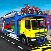 Cargo Truck Bike Car Transporter icon