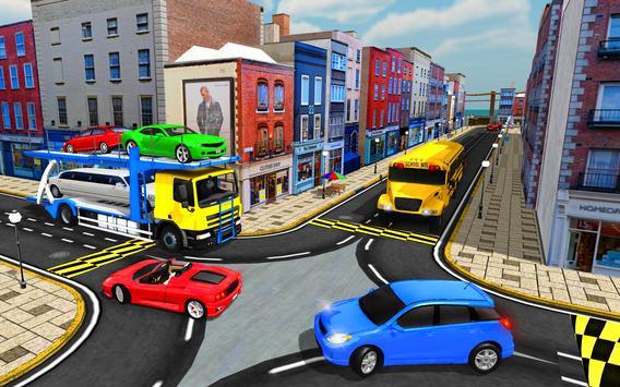 Cargo Truck Bike Car Transporter screenshot 10