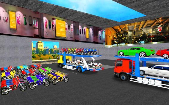 Cargo Truck Bike Car Transporter screenshot 8