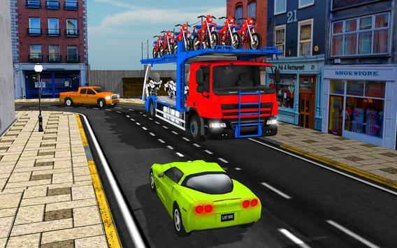 Cargo Truck Bike Car Transporter screenshot 9