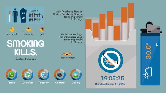 Nosmoking Theme Total Launcher apk screenshot