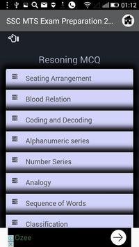 SSC MTS Exam Preparation 2018 apk screenshot