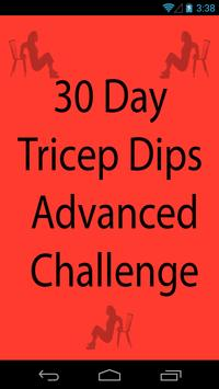 30 Day Tricep Dips Advanced poster