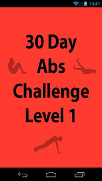30 Day Abs Challenge Level 1 poster