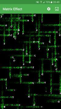 Matrix Effect Live Wallpaper poster