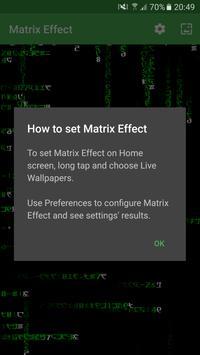 Matrix Effect Live Wallpaper apk screenshot