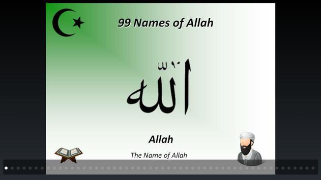 99 Beautiful Names of Allah poster