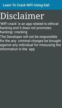 Learn To Crack WiFi Using Kali screenshot 1