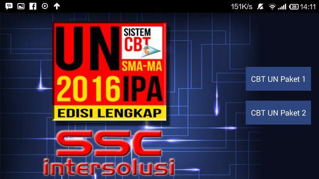 UN CBT 2016 : SMA/MA IPA poster