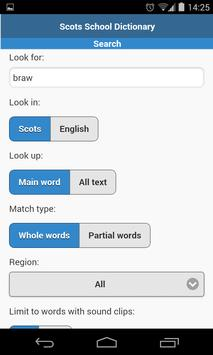 Scots Dictionary for Schools apk screenshot