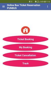 Online Bus Ticket Reservation PUNBUS screenshot 4