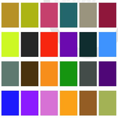 Colors vocabulary icon