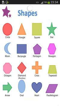 Shapes Vocabulary poster