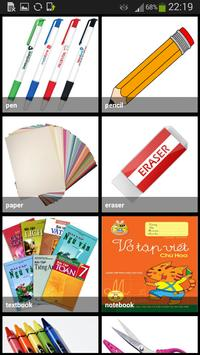 School Stationery Vocabulary apk screenshot