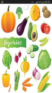Vegetables Vocabulary poster