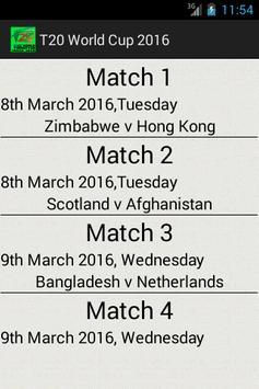 T20 World Cup 2016 screenshot 1