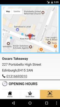 Oscars Takeaway Edinburgh poster