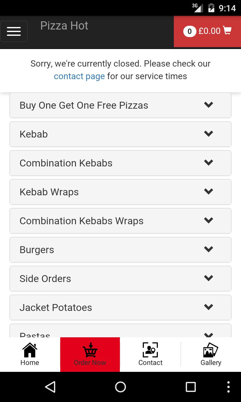 Pizza Hot Daventry For Android Apk Download