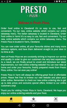Presto Pizza Yarm screenshot 1