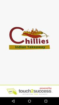 Chillies Indian takeaway poster