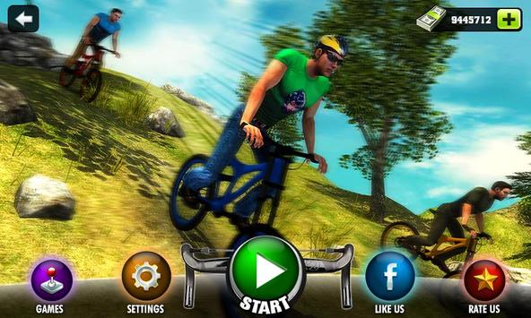Uphill Offroad Bicycle Rider poster