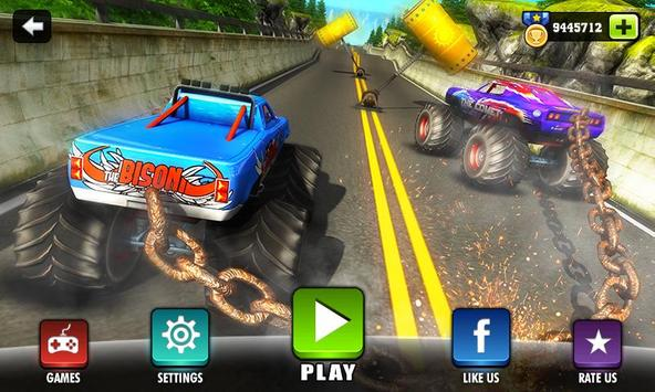 Chained Monster Truck Rivals: Ramp Racing Stunts poster ...