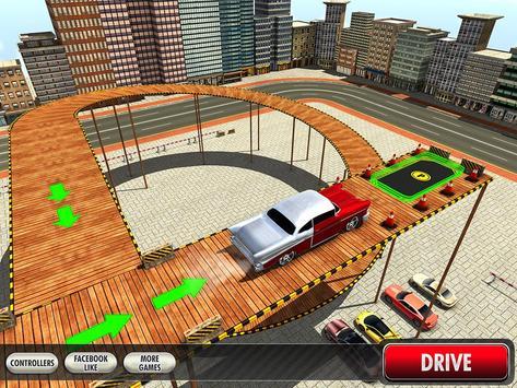 Real Classic Car Stunt Parking apk screenshot