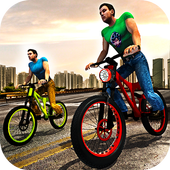 Rooftop Bicycle Stunt Rider 3D icon