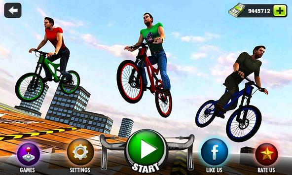 Rooftop Bicycle Stunt Rider 3D poster