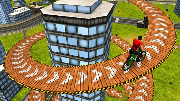 Rooftop Bicycle Stunt Rider 3D apk screenshot