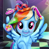 Rainbow Pony Haircut icon