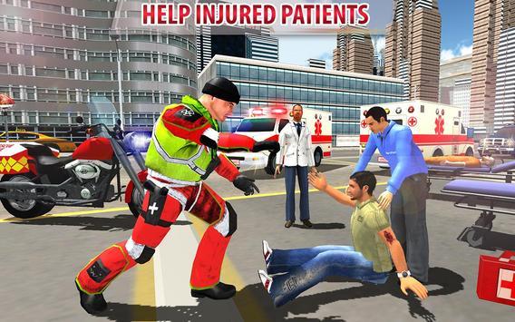 911 Rescue Bike Driver 2017 - Emergency Fast Duty apk screenshot