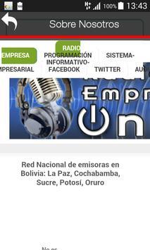 Radio Empresa La Paz Bolivia screenshot 2