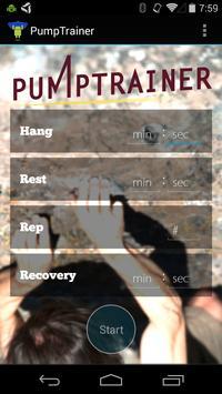 PumpTrainer: Hangboard Trainer poster