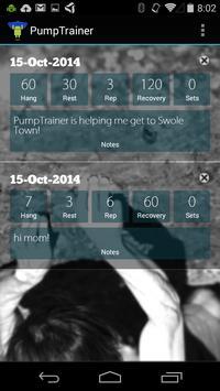 PumpTrainer: Hangboard Trainer screenshot 2