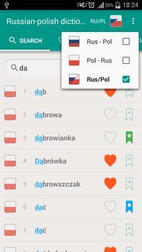 Russian-polish and Polish-russian dictionary poster