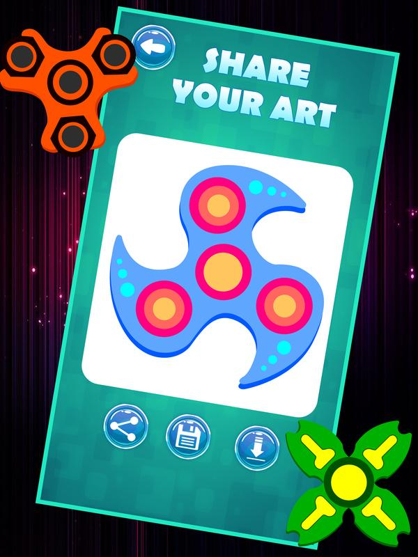 Fidget Spinner Coloring Book Pages APK Download