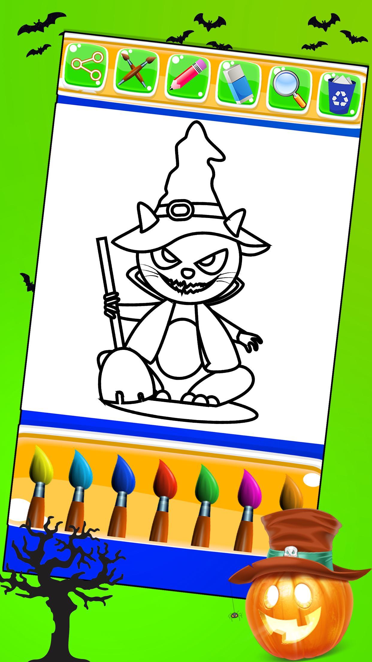 Halloween Coloring Book Pages Kids Coloring Game для андроид