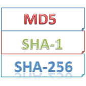 MD5, SHA-1, SHA-256 Checker icon