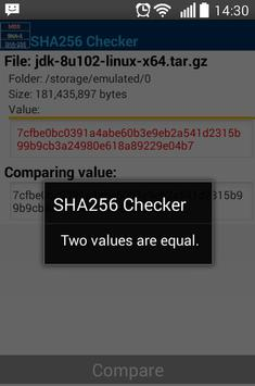 MD5, SHA-1, SHA-256 Checker apk screenshot