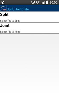 Split, Joint File. Free apk screenshot